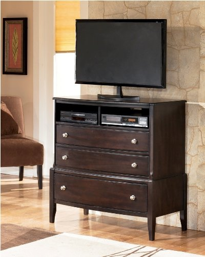 cheap naomi dark brown bedroom media chest tv stand b461 39