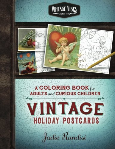 vintage holiday postcards coloring book - Coloring Packets