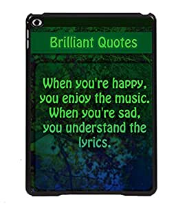Printvisa 2D Printed Quotes Designer back case cover for Apple iPad 6- D4534
