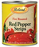 Roland Roasted Red Pepper Strips, 28-Ounce Can (Pack of 4)