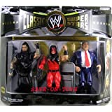WWE Classic Superstars Undertaker Kane Paul Bearer Wal- Mart 3 Pack Of Figure