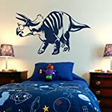 Triceratops Self Adhesive Wall Transfer / Vinyl Wall Art / Interior Decal Di2