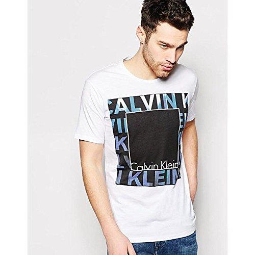 (カルバンクライン) Calvin Klein メンズ トップス Tシャツ Calvin Klein Jeans T-Shirt With Double Box Logo Print 並行輸入品