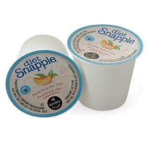 Snapple Diet Peach Iced Tea Keurig K-Cups, 16 Count