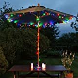 Lycheers®colour Solar Christmas String 11m 60 LED Solar Fairy String Lights for Outdoor, Gardens, Homes, Christmas Party, Waterproof (Multicolour)