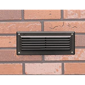 LED Outdoor Lighting: Kichler Lighting LED Brick Light Low Voltage Deck and Patio Light with Louvers