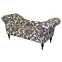 Upholstered settee furniture from target living room furniture for Button tufted chaise settee
