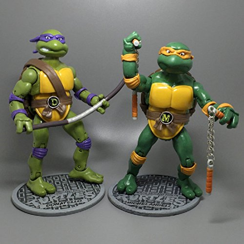 Teenage Mutant Ninja Turtles Classic Collection Action Figures 4 Pcs TMNT Toys Leonardo Raphael Donatello Michelangelo Brand New