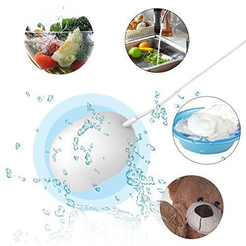 Anbes Newest Ultrasonic Multi-functional Compact Mini Pocket Portable Laundry Washing Machine Washer Cleaner Cleanser for Clothes, Garments, Towels, Underwears, Socks, Pants, Vegetables, Fruits, Toys