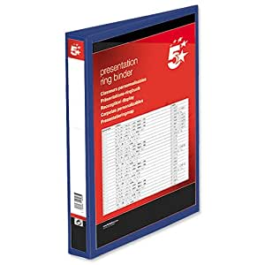 Amazon.com : 5 Star Presentation Ring Binder PVC 4 D-Ring 25mm Size A4
