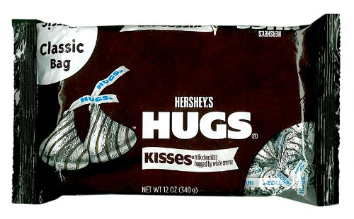 Hershey's Hugs, Milk Chocolate Kisses Hugged