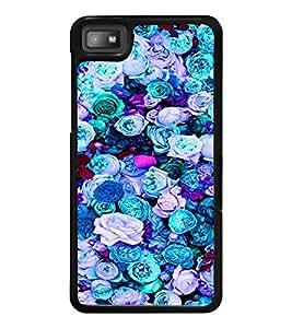 PrintDhaba Flowers D-2088 Back Case Cover for BLACKBERRY Z10 (Multi-Coloured)