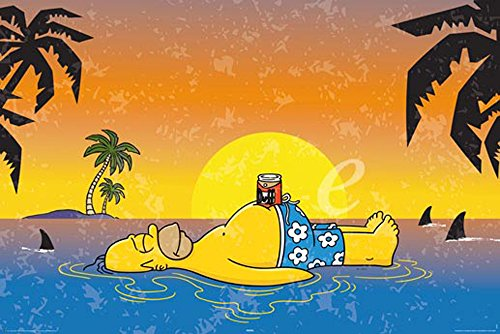 Simpsons-Homer Shark poster, 92x 61