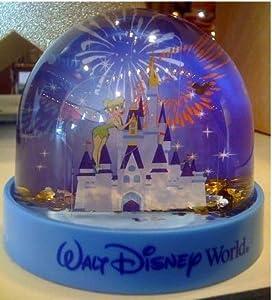 Disney Park Castle with Tinkerbell Plastic Snowglobe by Disney