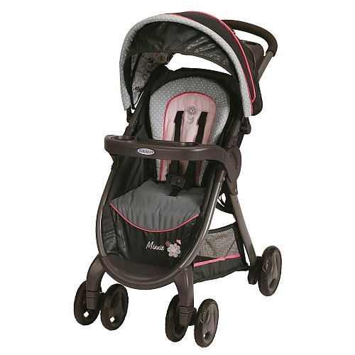 Graco Fastaction Fold Click Connect Premiere Stroller Minnies Garden front-978920