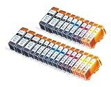 25 Pack Compatible Canon CLI 221 ,