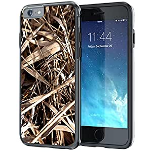 """iPhone 6 6s Plus 5.5"""" Case, True Color® Real HD Camo Tree Grass Straw Hunter Slim Hybrid Hard Back + Soft TPU Bumper Protective Durable [True Protect Series] +FREE Stylus & Screen Protector - Black"""