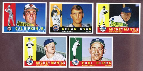 2010 Topps National Convention 1960 Retro 2 Sets Mickey Mantle Cal Ripken Kit Young Cards