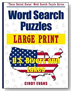 Large Print U.S. Rivers and Lakes Word Search Puzzles