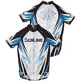 サンライン(SUNLINE) ステータス・PRODRY フルジップアップシャツ(半袖) ホワイト 3L-4L STW-5556CW トーナメントシャツ