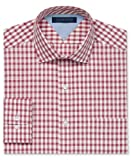 Tommy Hilfiger Mens Regular Fit Exploded Gingham Long Sleeve Dress Shirt