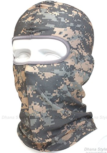 Dhana Style Sports Balaclava UV Protection Full Face Mask For All Outdoor Activities For Men and Women Type:QNM-Camo (ACU) (Navy Seals Airsoft compare prices)