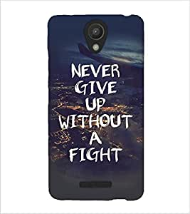Fuson Premium Never Give Up Printed Hard Plastic Back Case Cover for Xiaomi Redmi Note 2