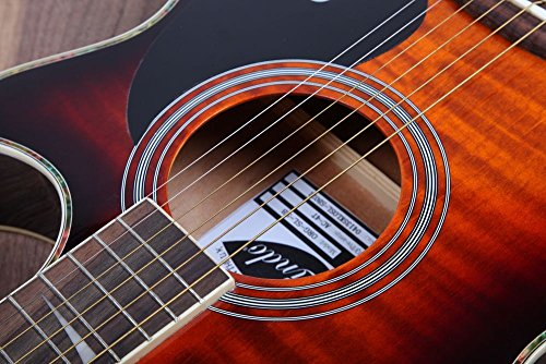 Lindo ORG-SL Slim Electro Acoustic Guitar with Pre-amp and Integrated Tuner/Accessories - Sunburst