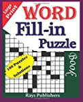 Large Print Word Fill-In Puzzle Book