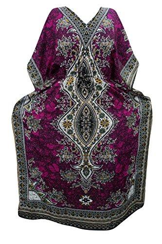 Indiatrendzs Women's Long Dashiki Boho Pink Kaftan Dress With Dori At Waist  available at amazon for Rs.387