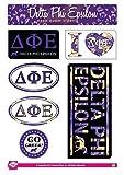 Delta Phi Epsilon Sticker Sheet - Lifestyle Theme. 8.5