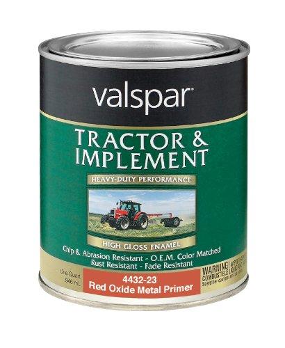 Valspar 4432-23 Red Oxide Metal Prim Tractor and Implement Paint - 1 Quart