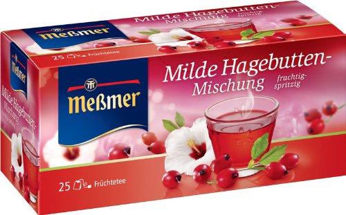 Meßmer Rosehip Blend (Milde Hagebutten-Mischung) 2 Packs (25 Tea Bags)