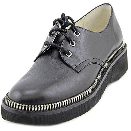 Michael Michael Kors Vivia Lace Up Womens Size 5.5 Black Leather Oxfords Shoes