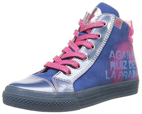 Agatha Ruiz de la Prada  Siero,  Sneaker ragazza Blu Bleu (A Azul/Charol/Serraje) 27