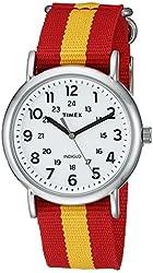 Timex Unisex TW2P679009J Weekender Varsity Row Analog Display Quartz Red Watch