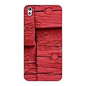 Red Nailed Wood Designer Back Case Cover for HTC Desire 816g