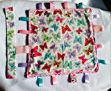 Baby 12in sq Comfort Security Butterflies Taggi Blanket
