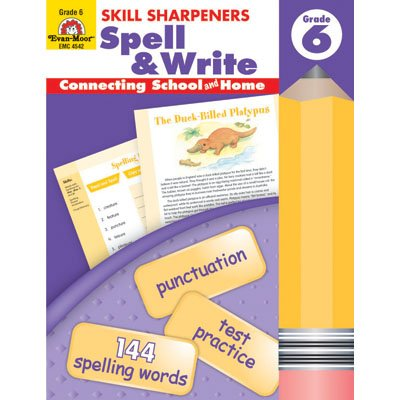 Skill Sharpeners: Spell & Write Grade 6 - 1
