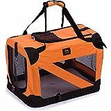 Folding Zippered 360° Vista View House Pet Crate, X-Large, Orange