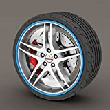 Chevrolet Kalos blau Rimblades Leichtmetallrad Edge Ring Anfahrschutz Reifen Tire Guard Rubber Zierleiste