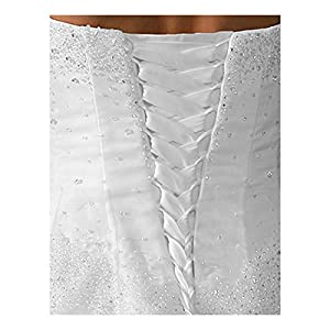 """Wedding Gown Zipper Replacement Adjustable Fit Corset Back Kit Lace-Up White 14"""""""