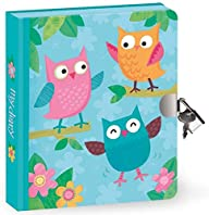 Peaceable Kingdom Owls Lock and Key Diary