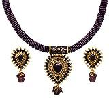 Sharnam Art Designers Purple brass choker pendant necklace set - BR-118 - Rs.2,310.00 @ AMAZON