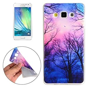 Crazy4Gadget For Samsung Galaxy A3 / A300F Trees and Clouds Pattern TPU Protective Case