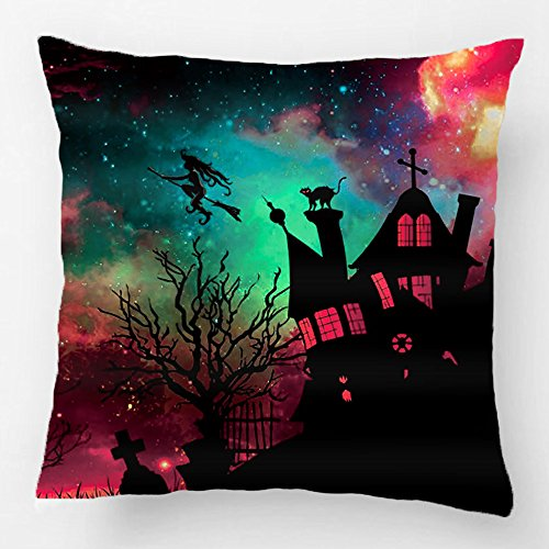 LDJ Cotton Polyester Sofa Chair Seat Square Throw Pillow Case Decorative Cushion Cover Pillowcase Design With Gruesome Halloween Dekokissen Custom Pillow Cover Print Double Side Sized 20x20 (Gruesome Halloween Ideas)