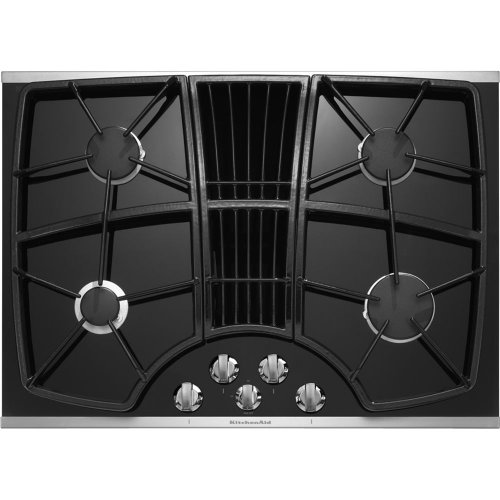Kitchenaid KGCD807XBL 30-Inch, 4-Burner Downdraft Cooktop