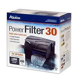 Aqueon 06082 QuietFlow 30 Power Filter, 200GPH