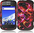 For ZTE Valet Z665C Fury Director N850 Cover Case + LCD Screen (Colorful Hearts)