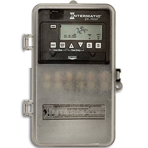 Intermatic ET1125CPD82 24-Hour 30-Amp 2 Circuit SPST or DPST Electronic Time Switch with Clock Voltage 120-277 VAC and NEMA 3R Plastic Cover (Electric Circuit Timers compare prices)